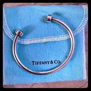 Tiffany & Co. Solid Silver Open Cuff Bangle